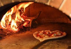 Pizza in a Wood-Fired Oven